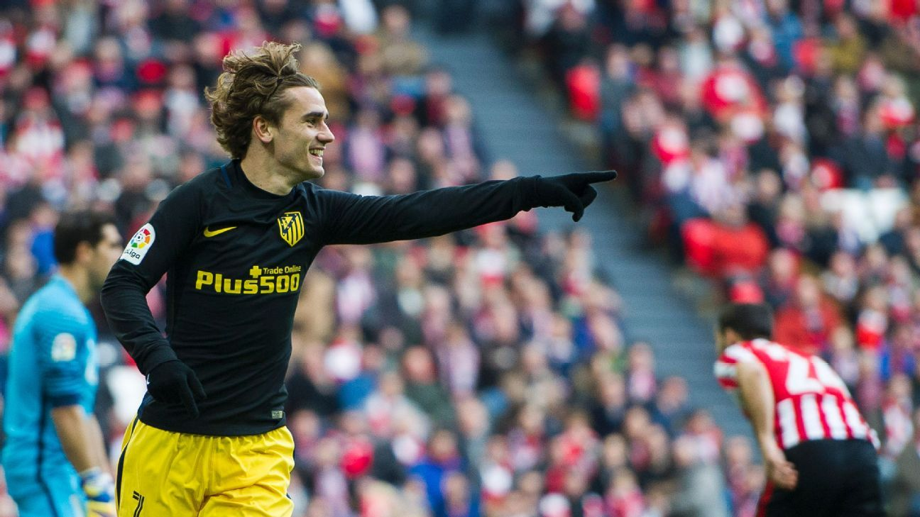 Antoine Griezmann celebrates his equaliser on Sunday.