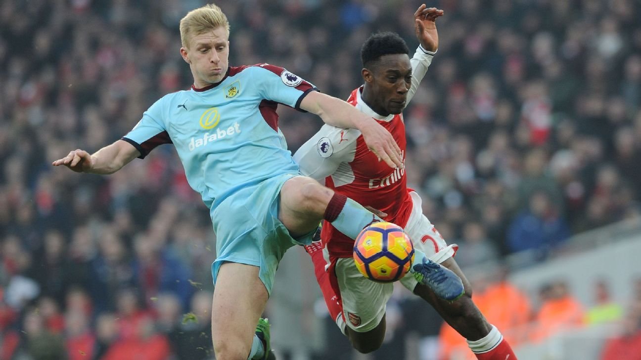 Ben Mee action vs Arsenal 170122