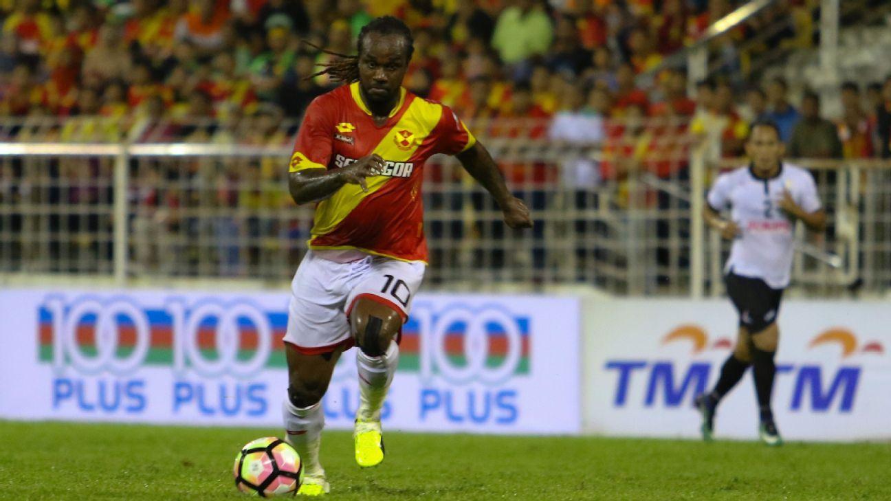 Selangor striker Francis Forkey Doe