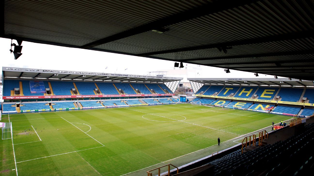 A general view of Millwall's New Den ground.