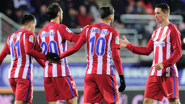 Atletico Madrid advanced to the Copa del Rey semifinals on Wednesday.