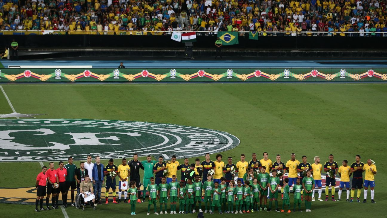 Chapecoense friendly: Brazil vs. Colombia