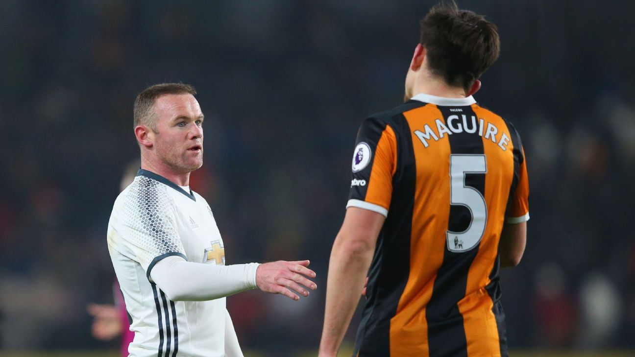Wayne Rooney and Harry Maguire