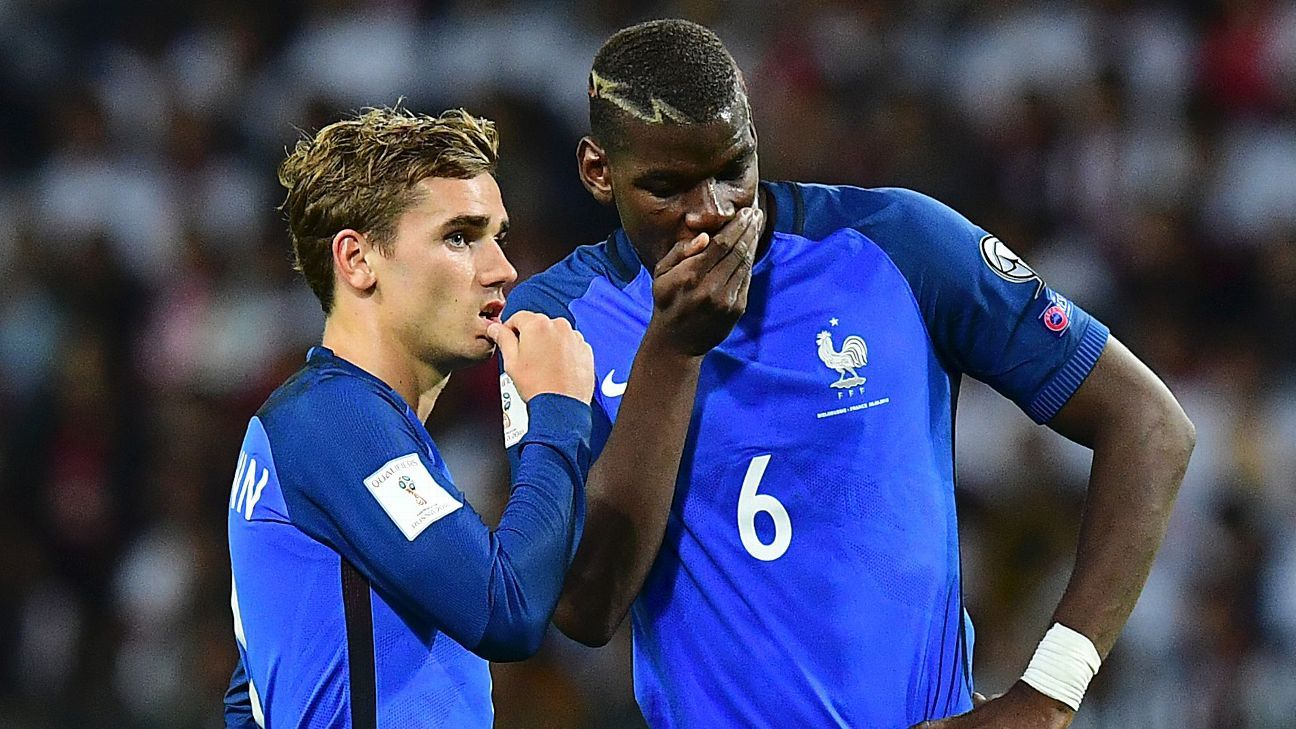 Paul Pogba and Antoine Griezmann are headed to Russia.
