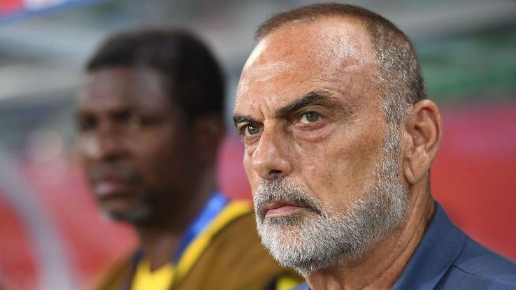 Avram Grant during the Africa Cup of Nations