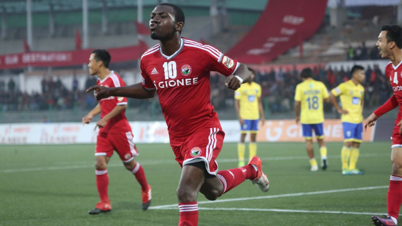 Aser Dipanda Dicka scored 10 goals for Shillong Lajong FC during the 2016-17 I-League season