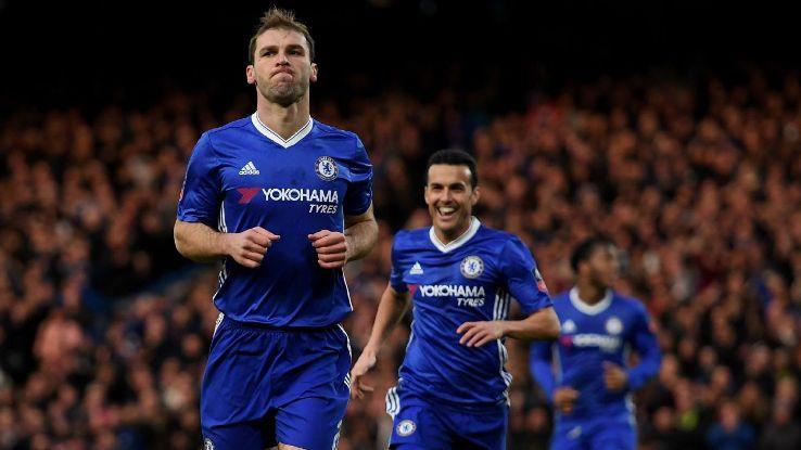 Branislav Ivanovic scored in the second half for Chelsea.