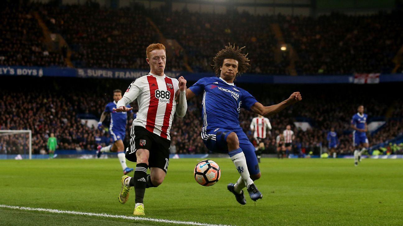 Nathan Ake Chelsea vs Brentford 20170128