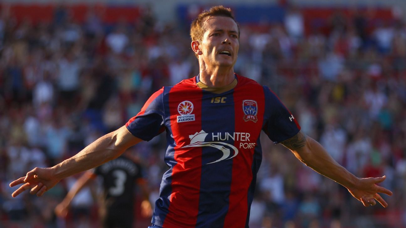 Ex-Newcastle Jets striker Ryan Griffiths
