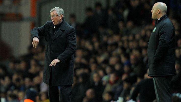 Steve Kean and Sir Alex Ferguson
