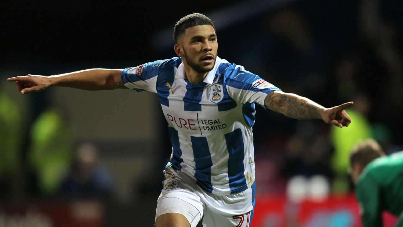 Nahki Wells found the net in Huddersfield Town's big win on Thursday.