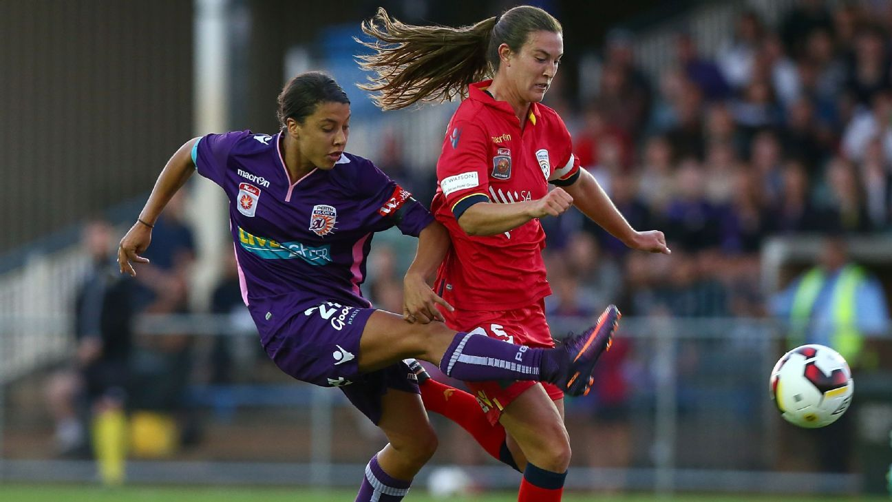 Perth Glory striker Sam Kerr