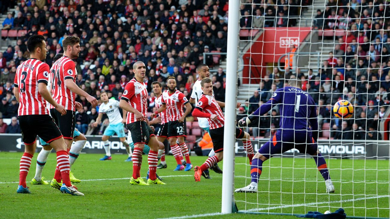 Mark Noble capped West Ham's win at Southampton.