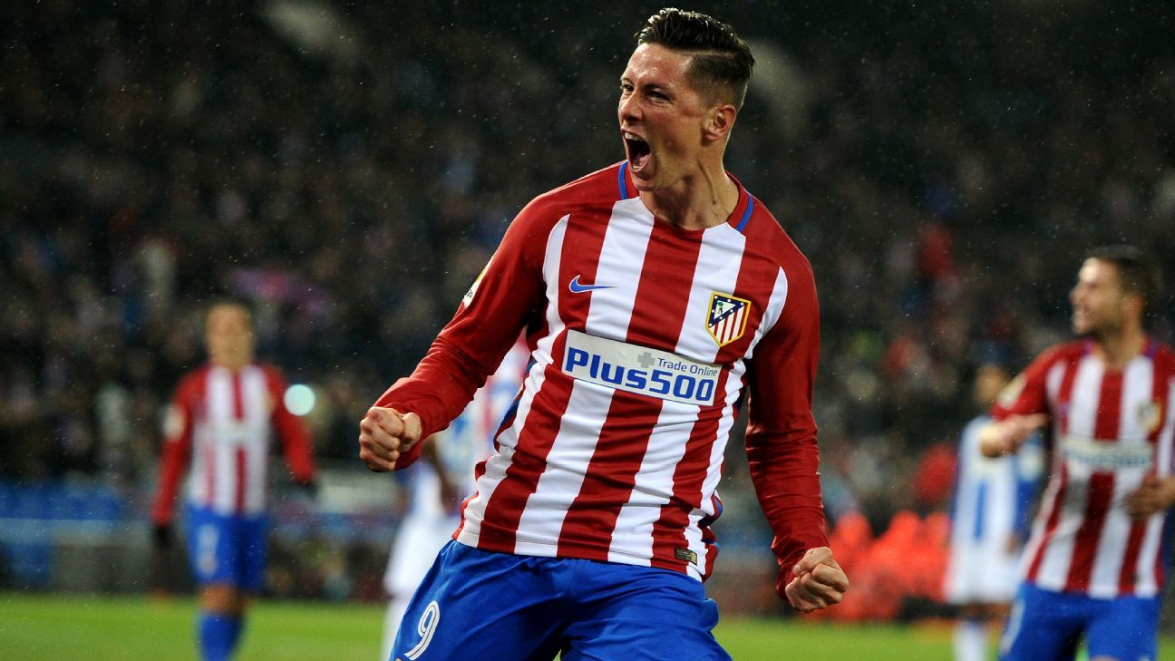 Fernando Torres returns to Atletico Madrid training after