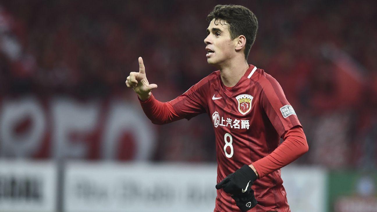 Oscar celebrates first Shanghai SIPG goal