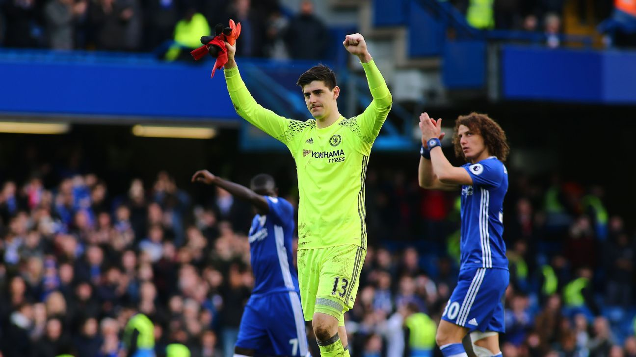 Thibaut Courtois and the Chelsea defense have been incredibly strong this season, and it's thanks to Antonio Conte's unique system.