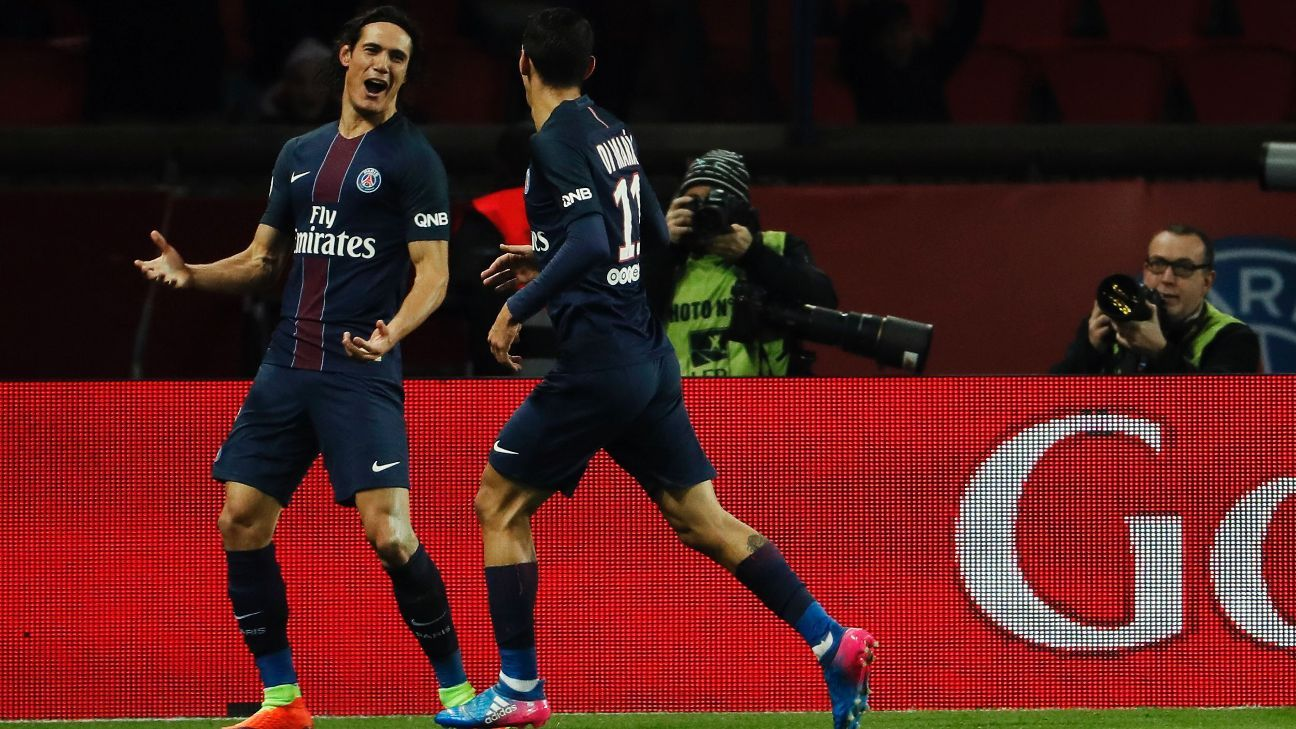 Edinson Cavani provided PSG with their opening goal on Tuesday.