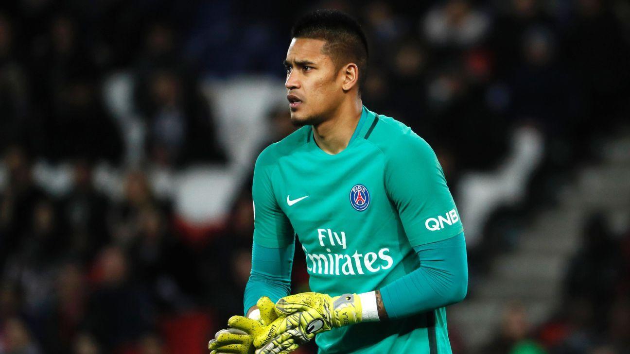 Paris Saint-Germain keeper Alphonse Areola backed after