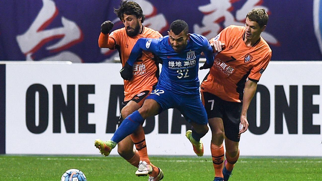 Shanghai Shenhua striker Carlos Tevez
