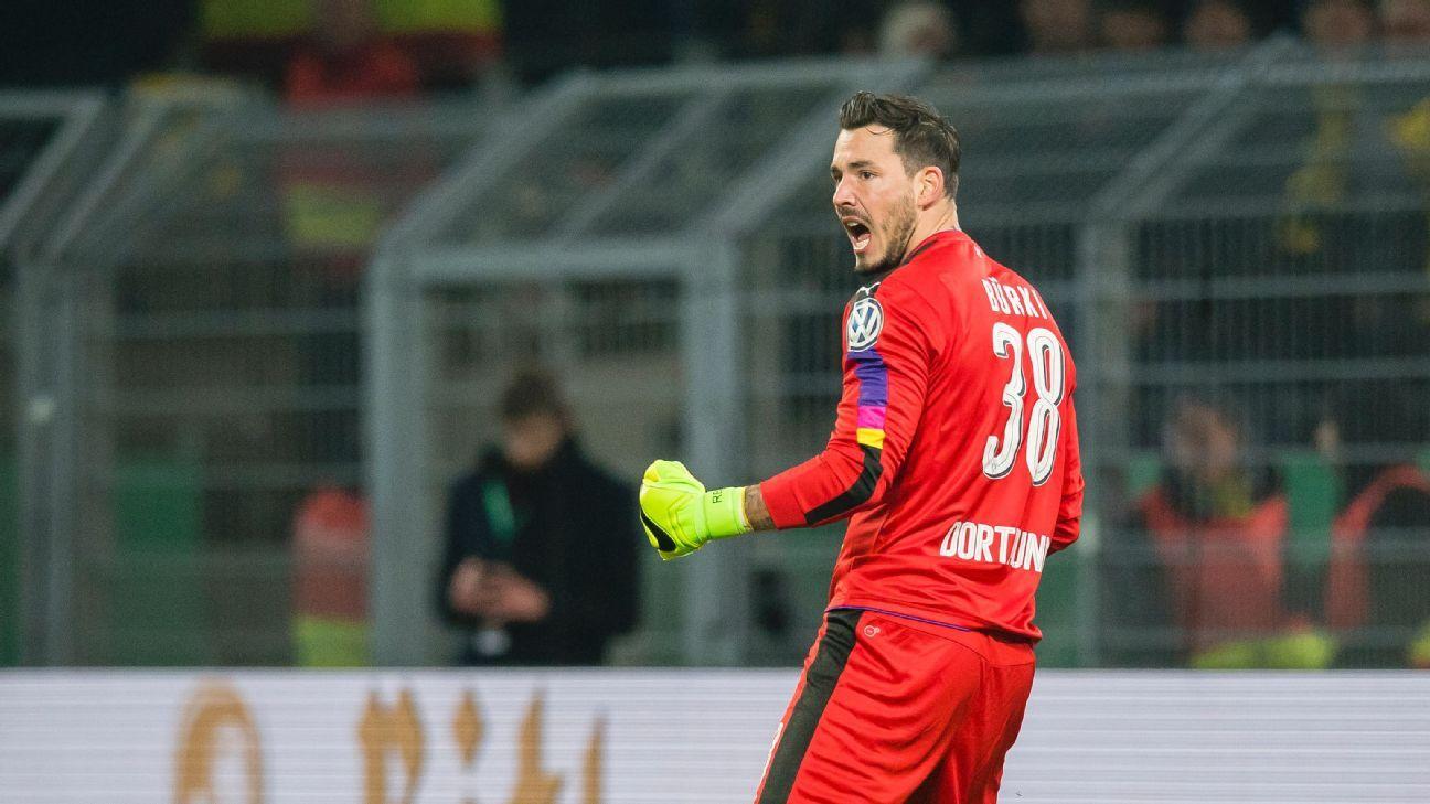 Borussia Dortmund goalkeeper Roman Birki