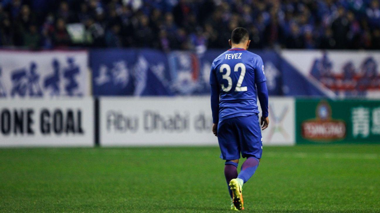 Shanghai Shenhua forward Carlos Tevez