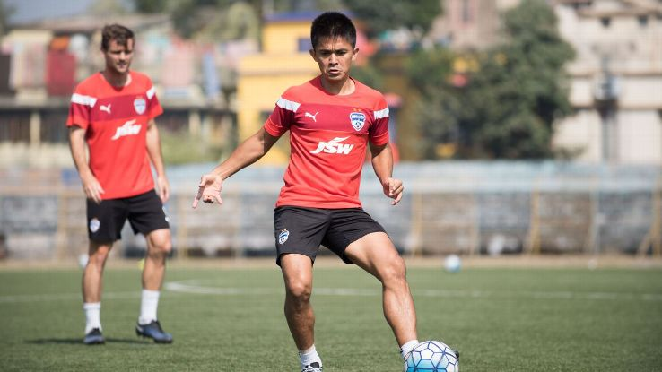 Sunil Chhetri during BFC training