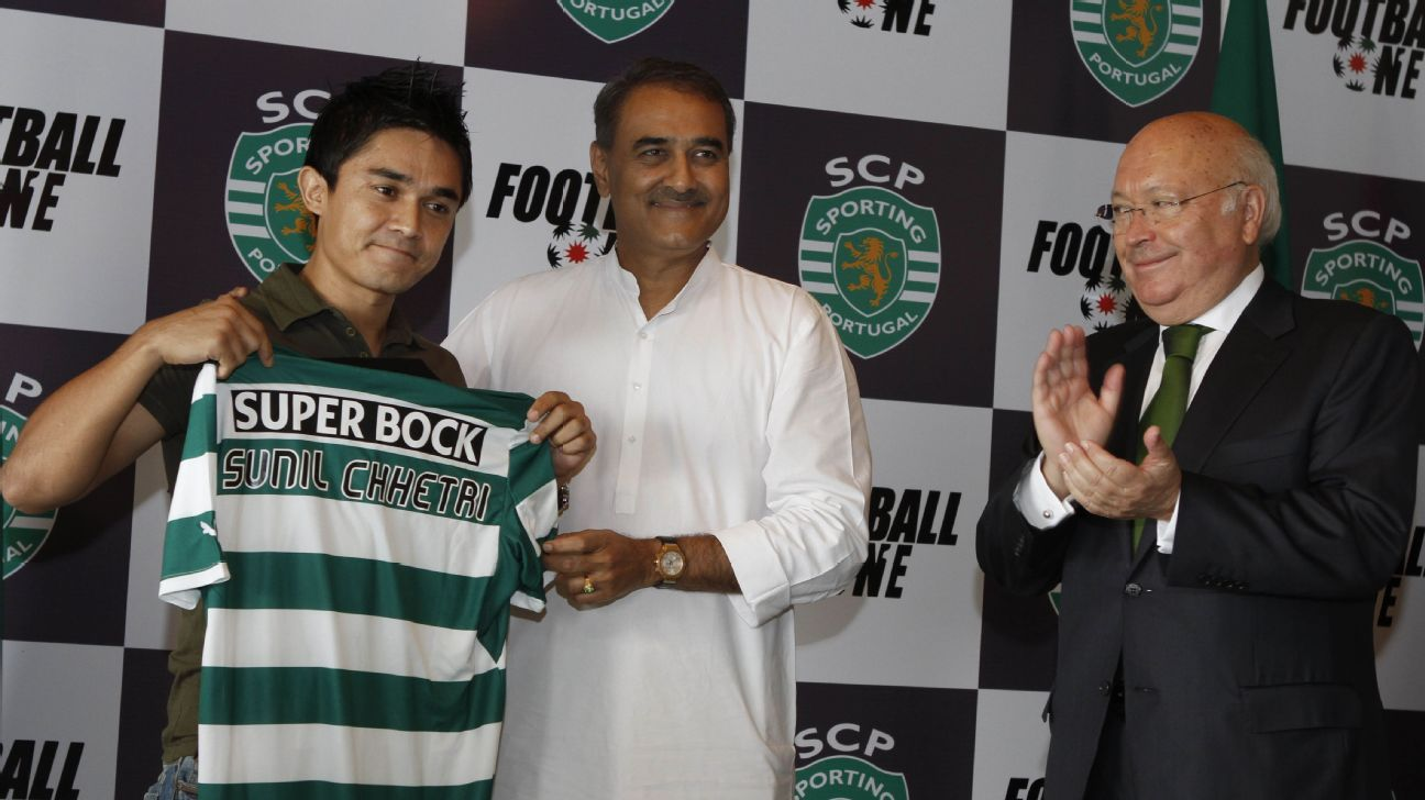 Sporting Lisbon signed Sunil Chhetri, then 27, on a two-year deal for the reserve (B) team in 2012.