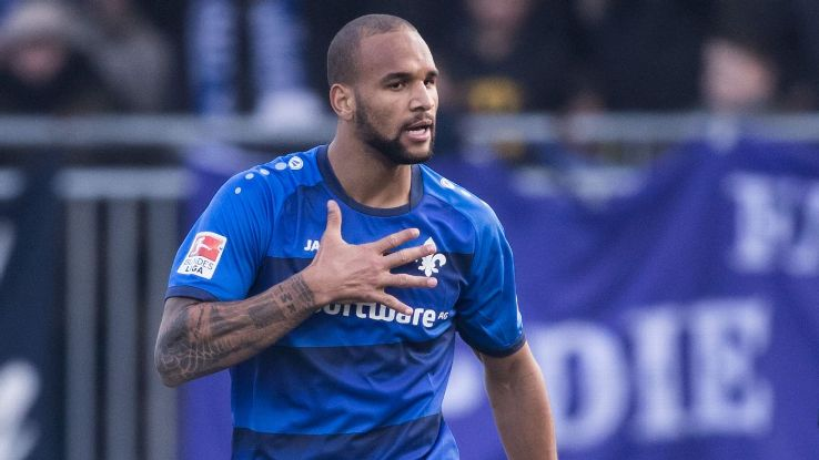 Terrence Boyd scored the first Bundesliga goal of his career to put Darmstadt ahead.