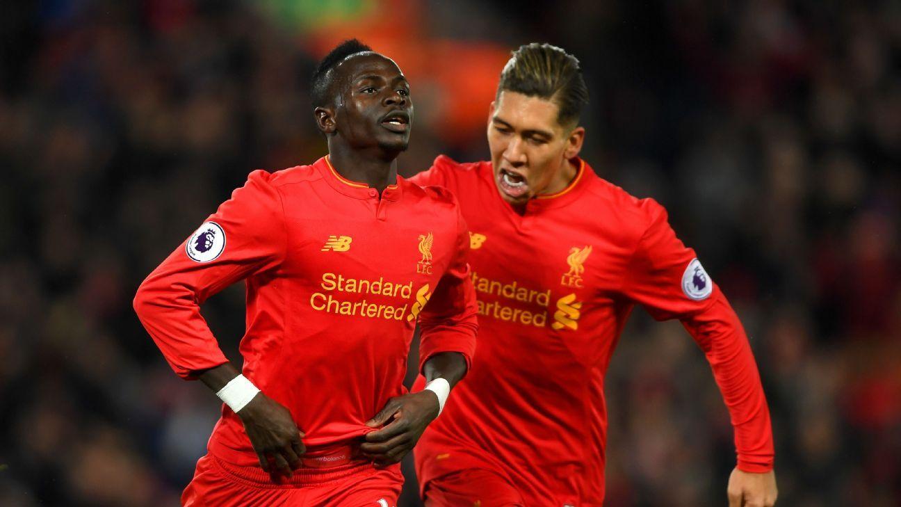 Sadio Mane & Roberto Firmino of Liverpool