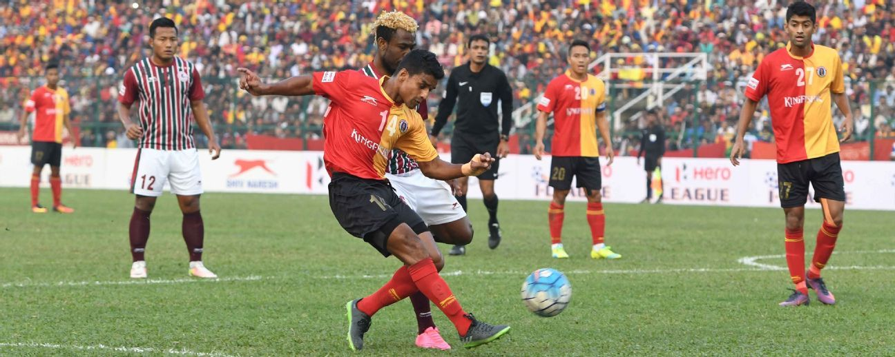 East Bengal are currently top of the table with 24 points.