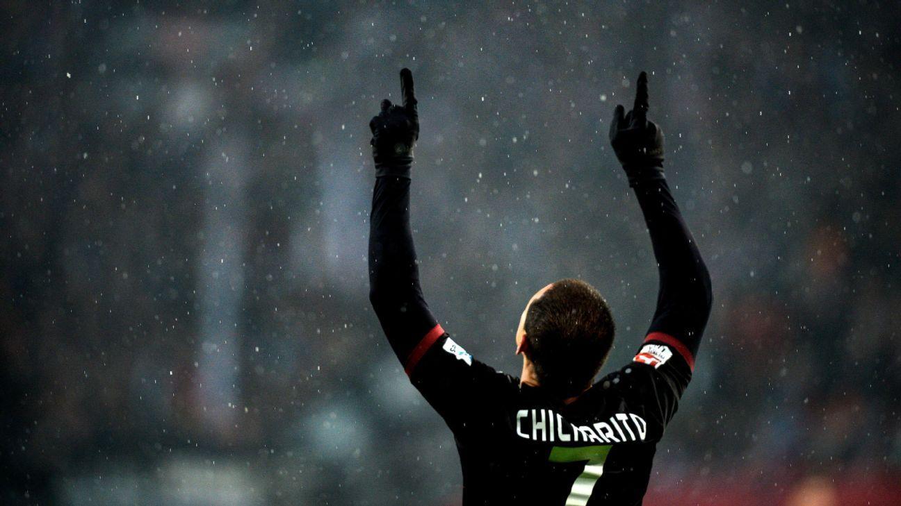 Bayer Leverkusen forward Javier Hernandez