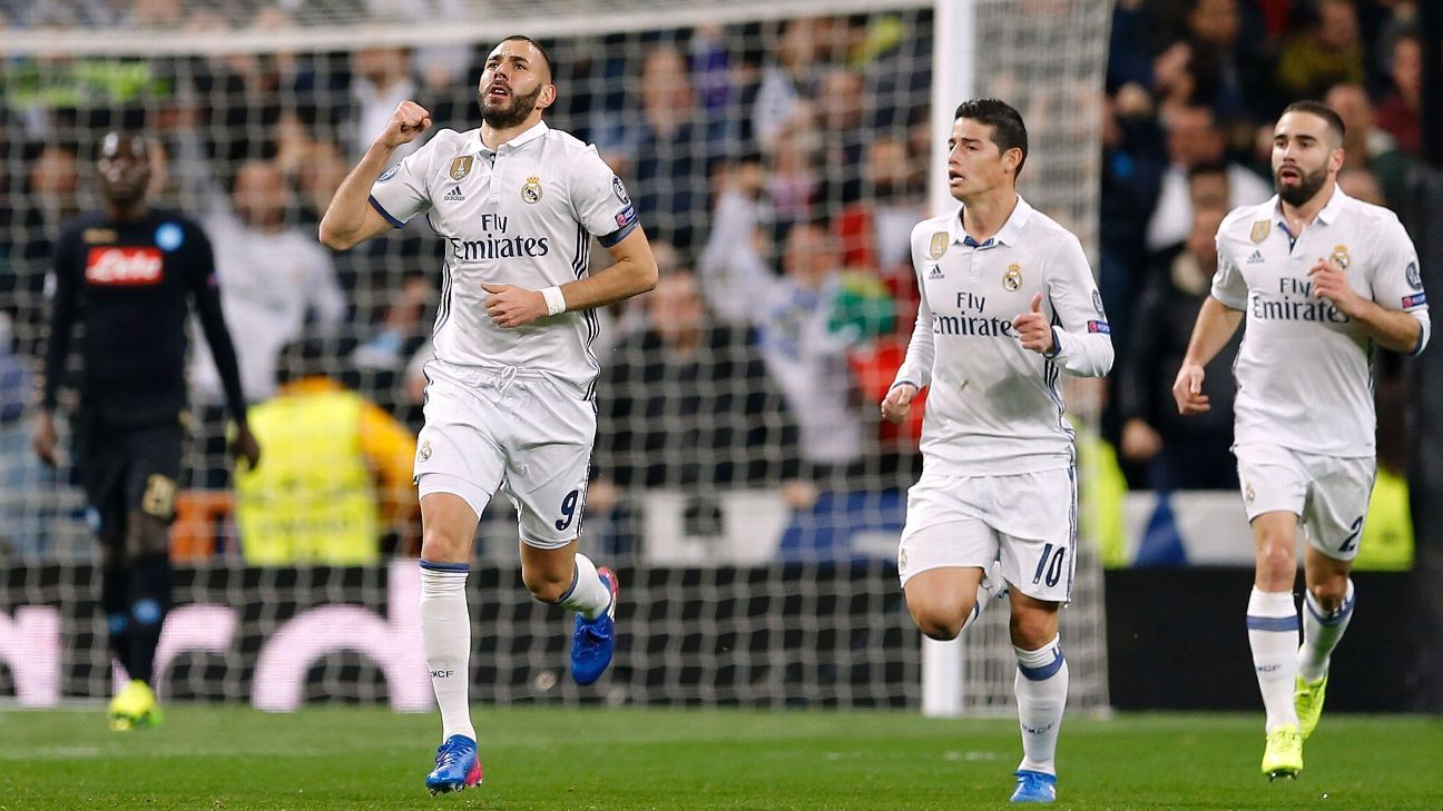 Karim Benzema's equaliser got Real Madrid off and running against Napoli.