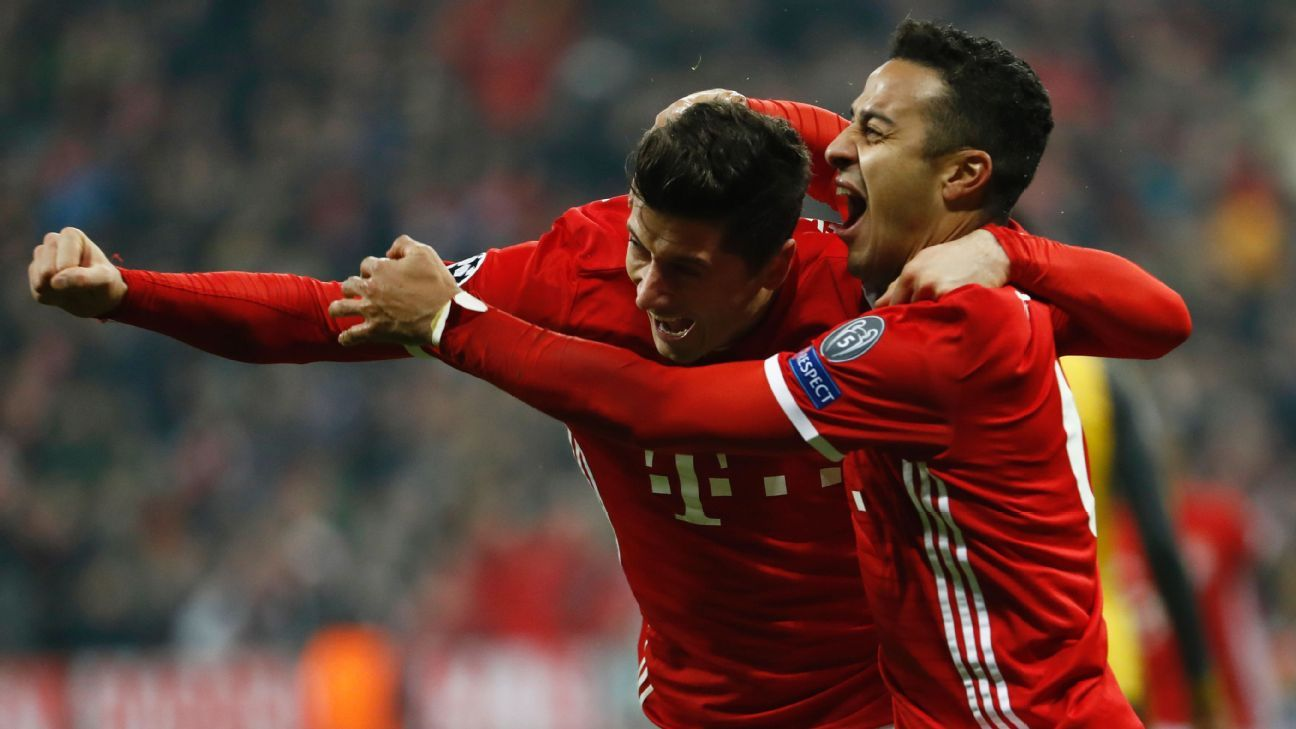 Bayern Munich proved to be too strong for Arsenal at the Allianz Arena.