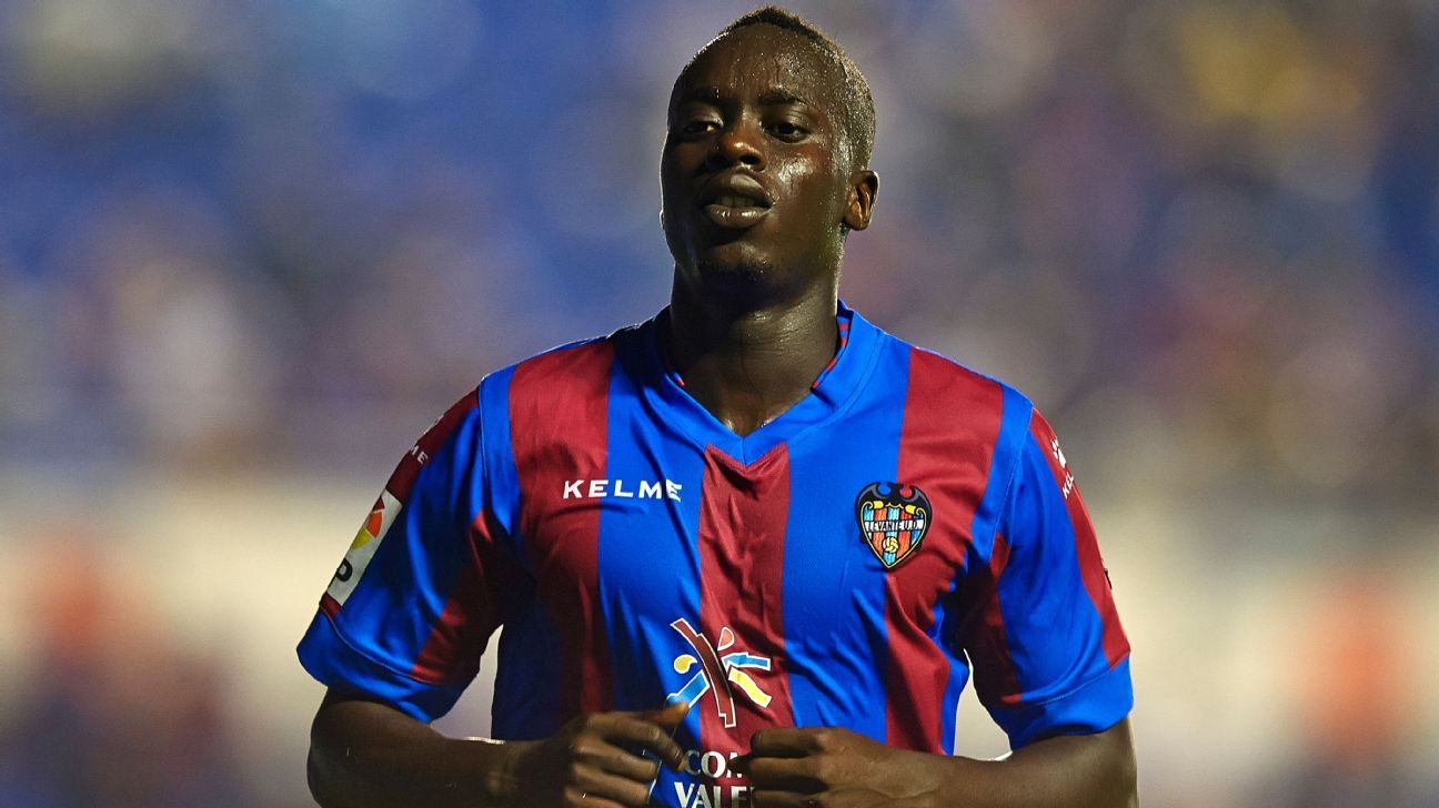 Adelaide United forward Baba Diawara playing for Levante