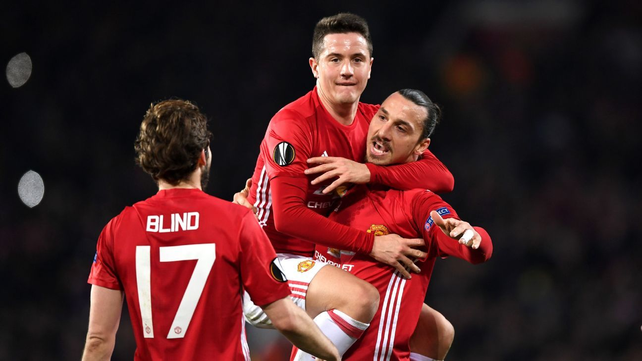 Ander Herrera and Zlatan Ibrahimovic