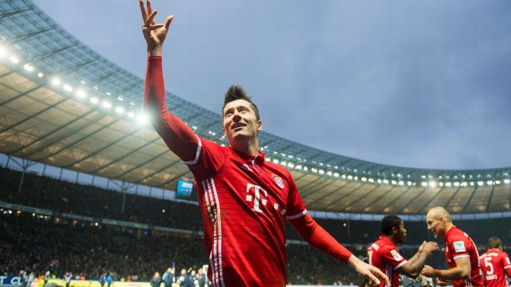 Robert Lewandowski salvaged a late draw for Bayern.