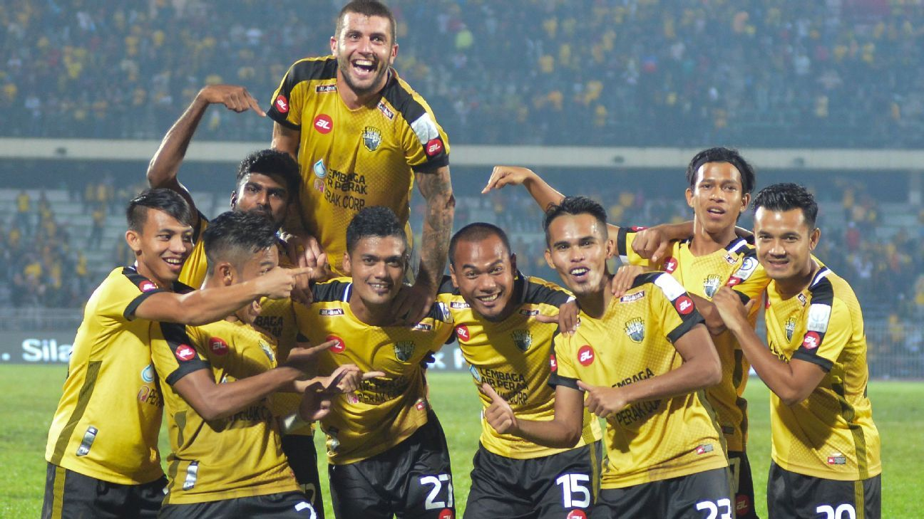 Perak celebrate victory over JDT