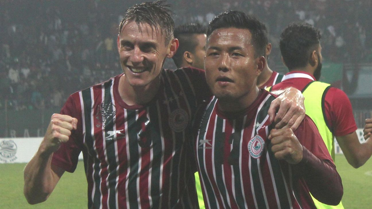 Bagan will have the services of striker Darryl Duffy but not those of Jeje Lalpekhlua.