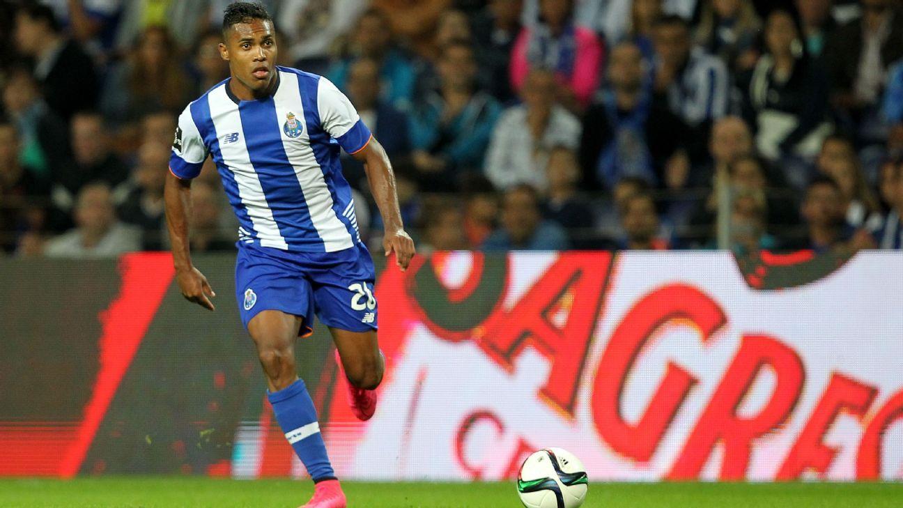 Porto midfielder Alex Sandro