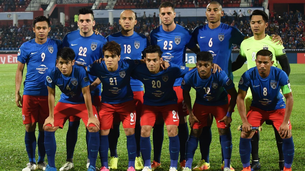JDT starting team in 2017 AFC Cup