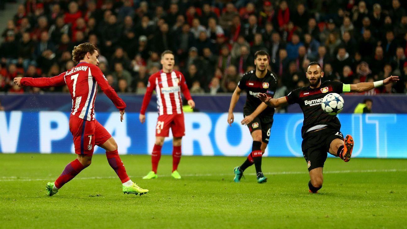 Antoine Griezmann put Atletico 2-0 up after 25 minutes.