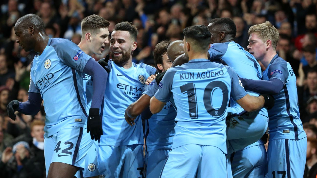 It is advantage Manchester City going into the second leg in Monaco.