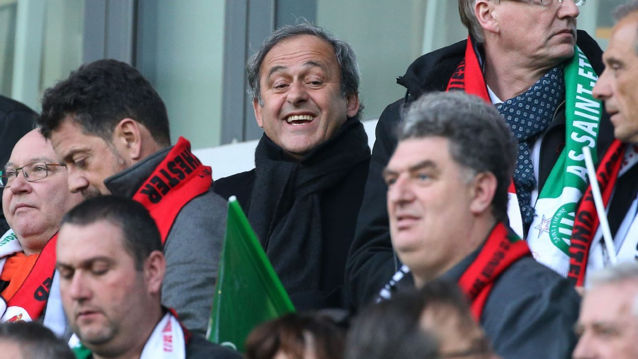 Platini at St Etienne match 170222
