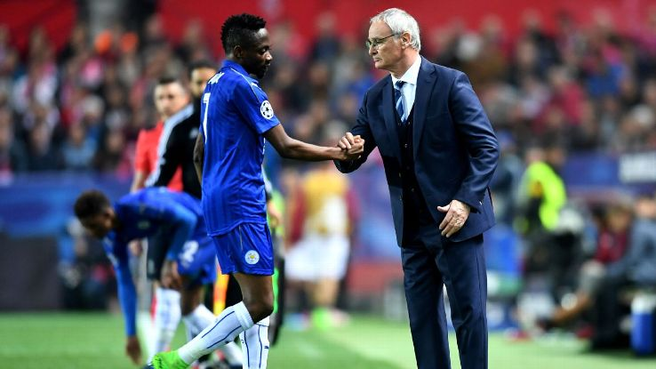 Leicester City winger Ahmed Musa