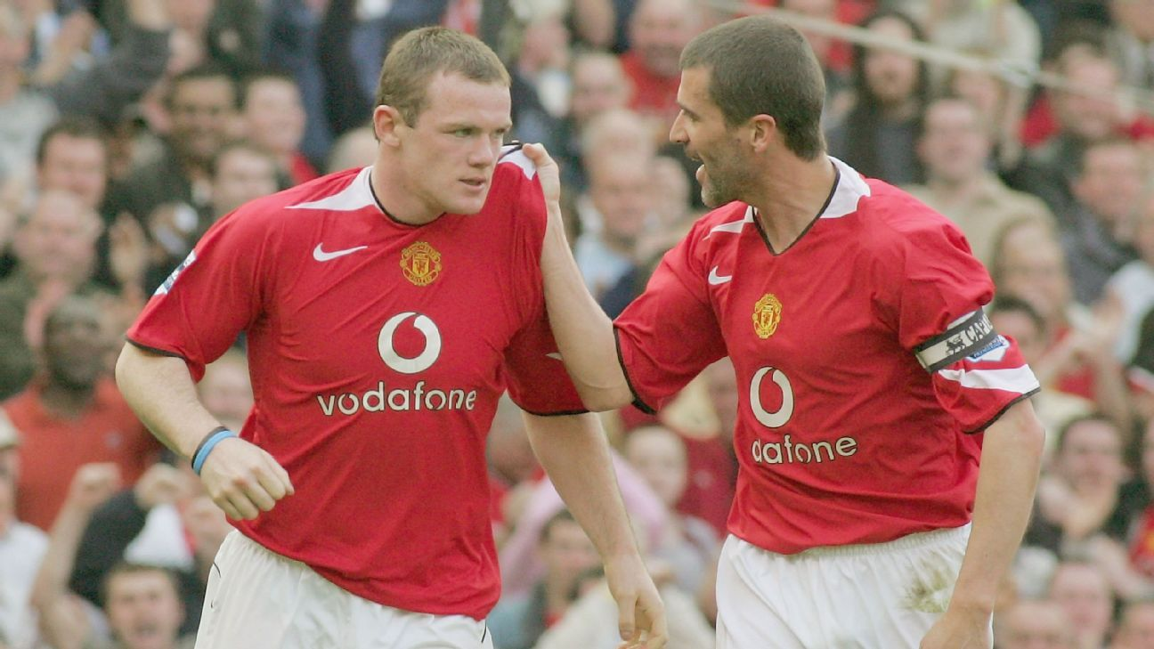 Wayne Rooney and Roy Keane