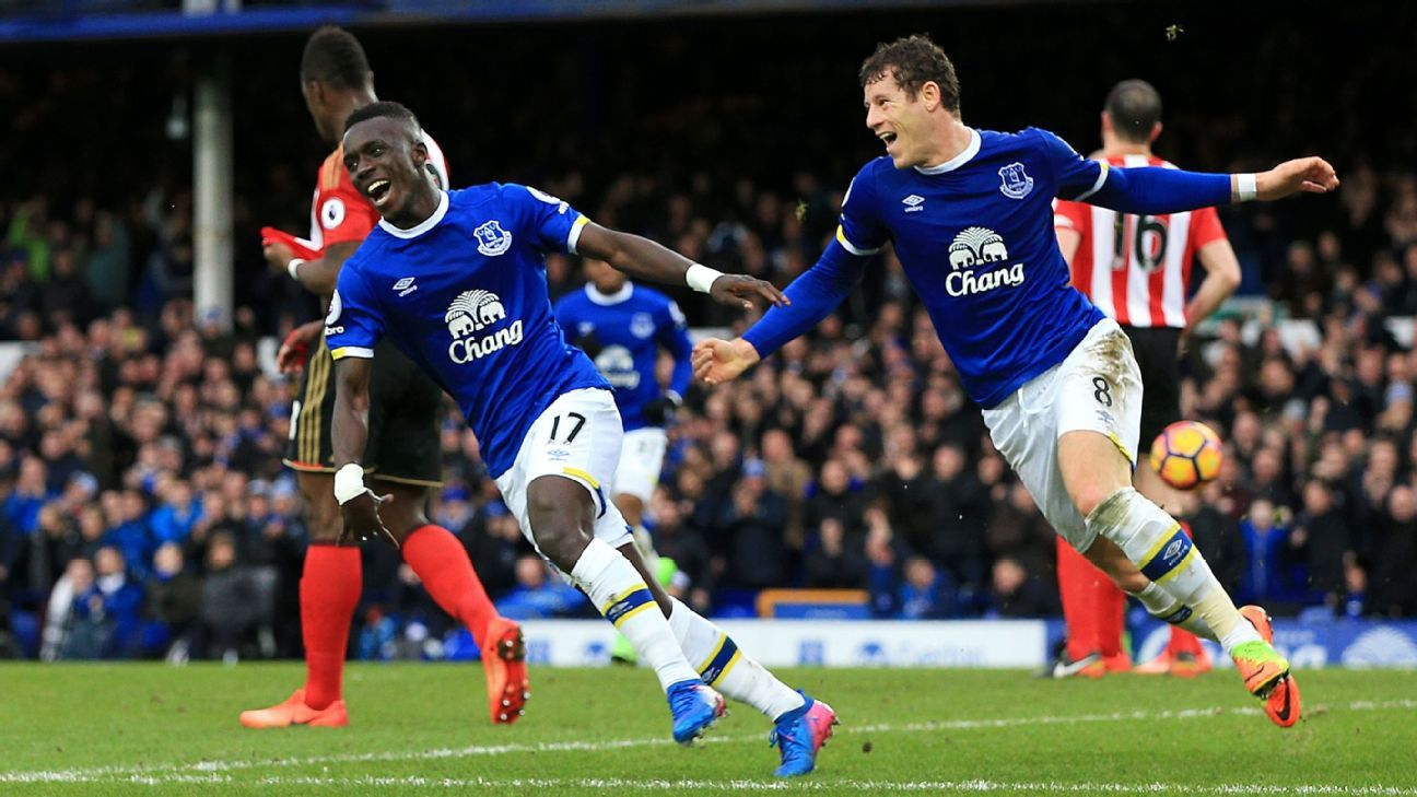 Idrissa Gueye finally scored in the Premier League as Everton won.