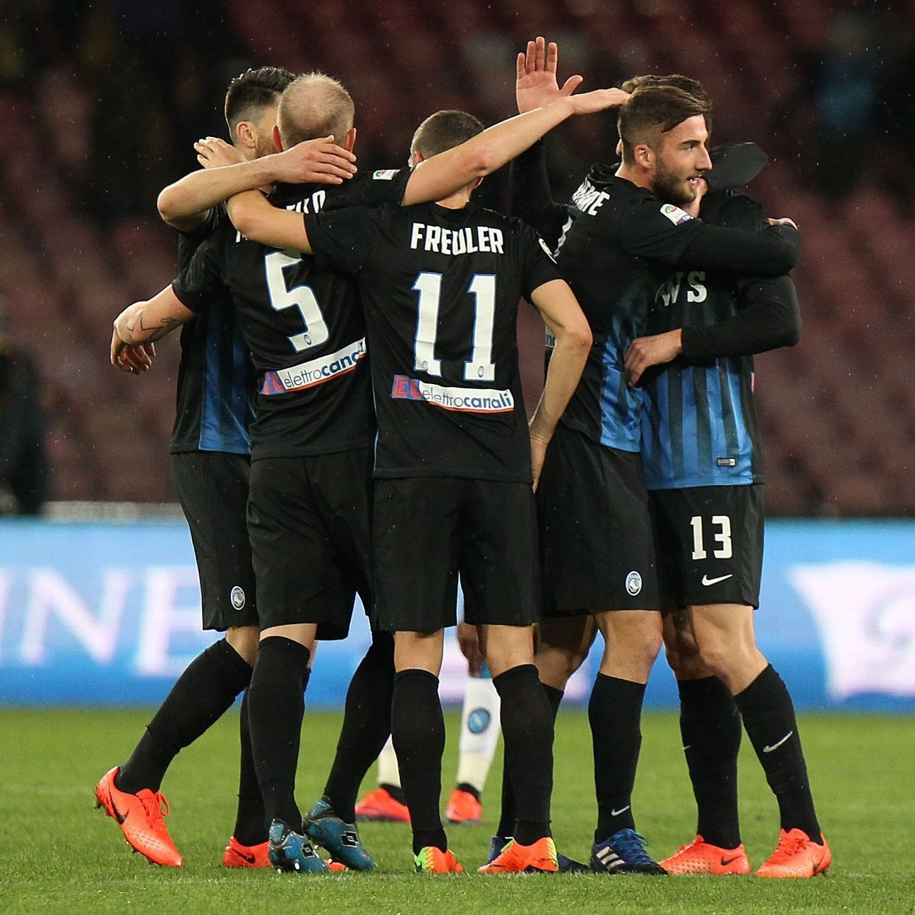 Atalanta are within three points of the top three after winning at Napoli.