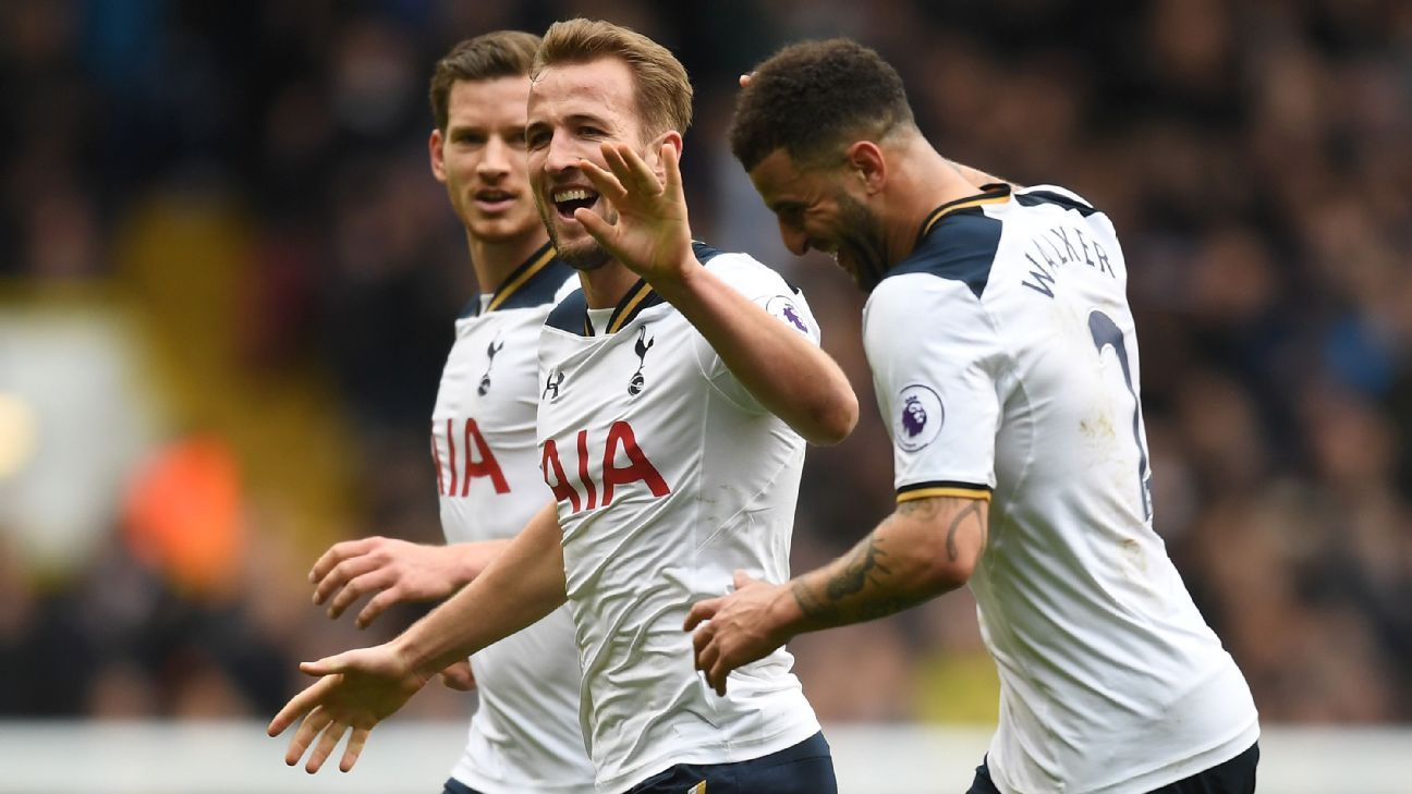 Harry Kane hits hat trick as Spurs beat Stoke to go second