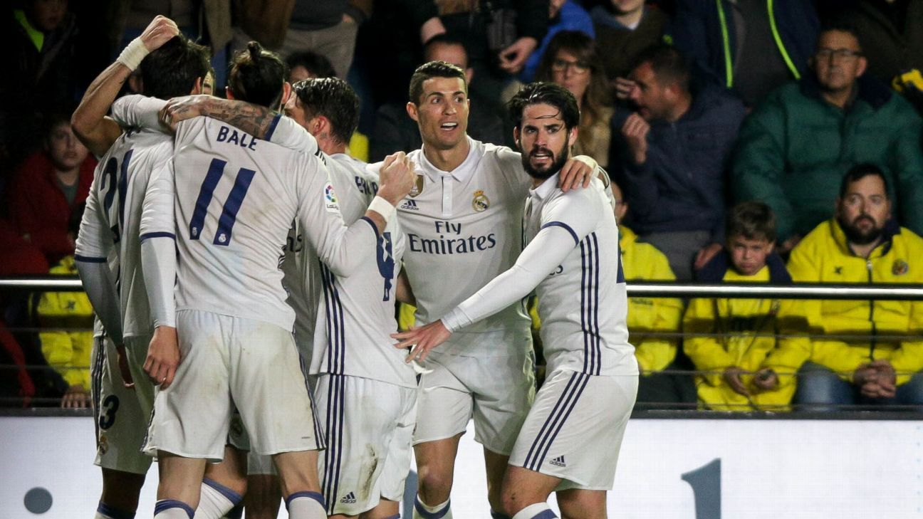 Real Madrid came from two goals down to defeat Villarreal on Sunday.