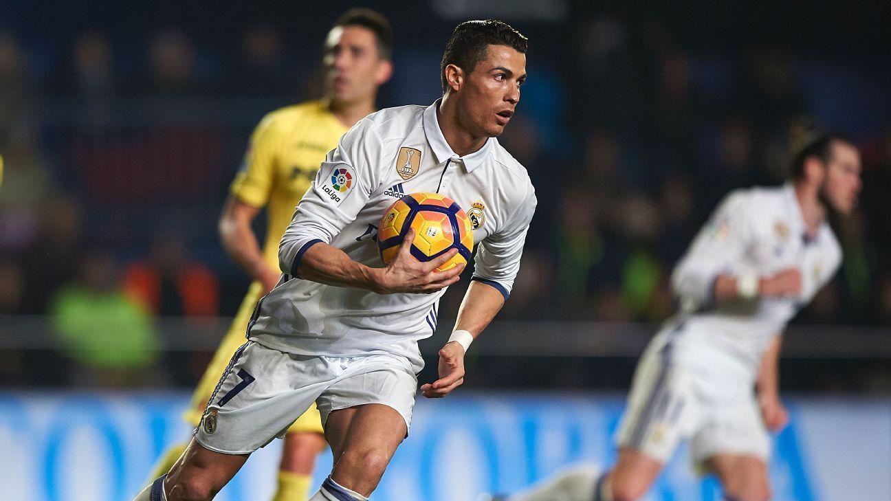 Ronaldo runs vs Villarreal 170226
